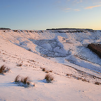 Buy canvas prints of Sunset glow on snow by Andrew Kearton