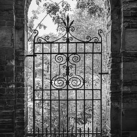Buy canvas prints of Old gate in an English walled garden by Andrew Kearton