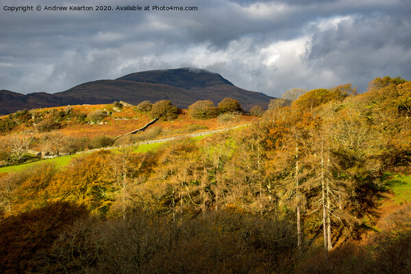 Autumn in Snowdonia Framed Mounted Print by Andrew Kearton