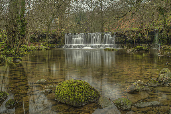 Scar House Waterfalls Canvas print by David Oxtaby