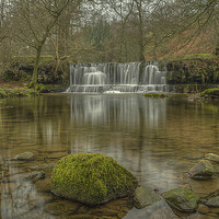 Buy canvas prints of  Scar House Waterfalls by David Oxtaby