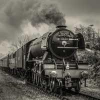Buy canvas prints of Flying Scotsman runs again by David Oxtaby