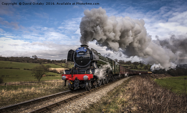 Flying Scotsman heading up Esk Valley Canvas print by David Oxtaby