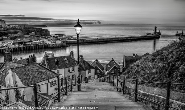 199 Steps Monochrome Canvas Print by David Oxtaby