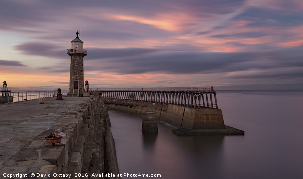 Whitby Harbour at dusk Canvas print by David Oxtaby