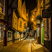 Buy canvas prints of The Shambles at Christmas by David Oxtaby