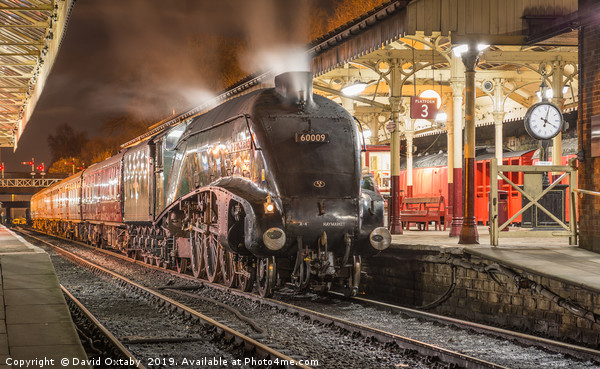 Union of South Africa 60009 at Bury Bolton Street Canvas print by David Oxtaby