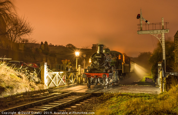 78022 waiting at Oakworth station on the KWVR Canvas print by David Oxtaby