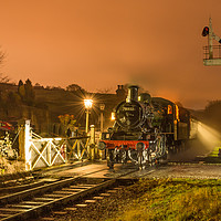 Buy canvas prints of 78022 waiting at Oakworth station on the KWVR by David Oxtaby