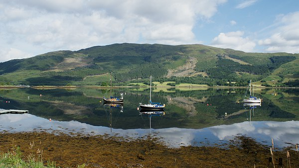 loch reflection Canvas print by stephen king