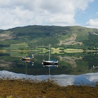 Buy canvas prints of  loch reflection by stephen king
