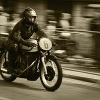 Buy canvas prints of  Motor Bike Rally by Stephen Silk