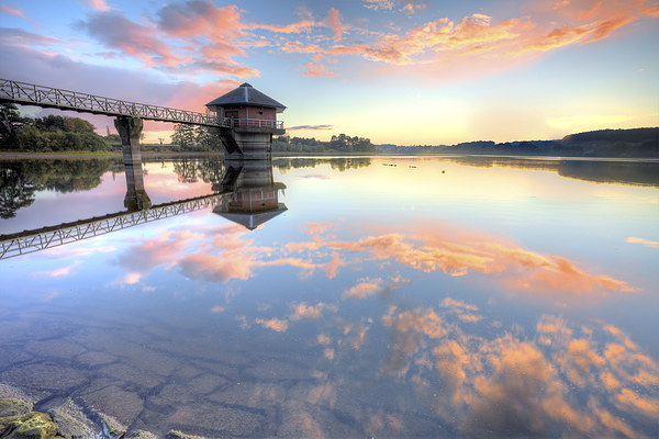 Cropston Reservoir Sunset, Leicestershire  Canvas print by Jonathan Smith