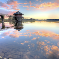 Buy canvas prints of  Cropston Reservoir Sunset, Leicestershire  by Jonathan Smith
