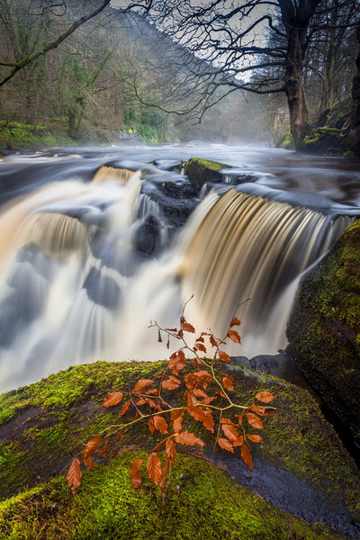 Ladybower - Peak District Waterfall Canvas print by Jonathan Smith