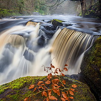 Buy canvas prints of Ladybower - Peak District Waterfall by Jonathan Smith