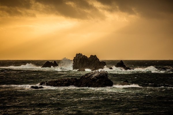 Lizard Point Cornwall Sunset Canvas Print by Jonathan Smith
