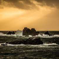 Buy canvas prints of Lizard Point Cornwall Sunset by Jonathan Smith