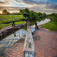 Buy canvas prints of South Stratford Canal, Stratford, Warwickshire by Jonathan Smith