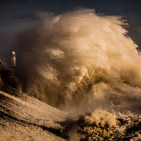 Buy canvas prints of Porthcawl storm Wales by Jonathan Smith