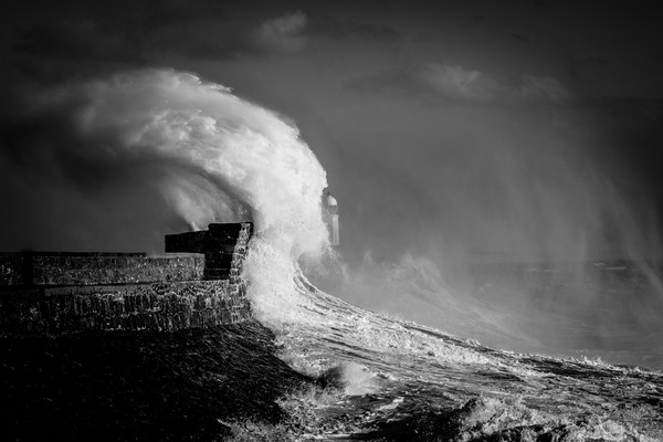 Porthcawl storm Wales Canvas print by Jonathan Smith