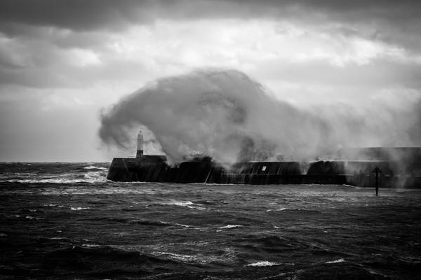 Storm at Porthcawl Bridgend Wales Canvas print by Jonathan Smith