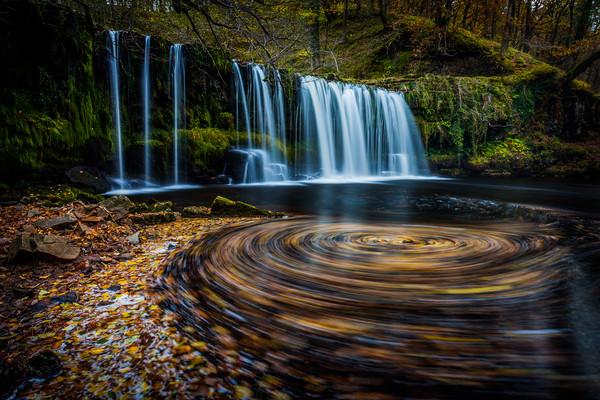 Upper Gushing Falls, Waterfall, Wales Canvas print by Jonathan Smith