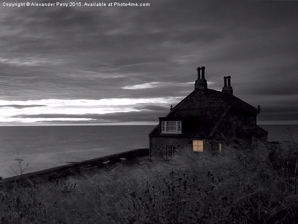 Bathing House, Howick Canvas print by Alexander Perry