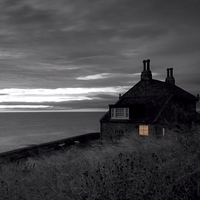 Buy canvas prints of  Bathing House, Howick by Alexander Perry