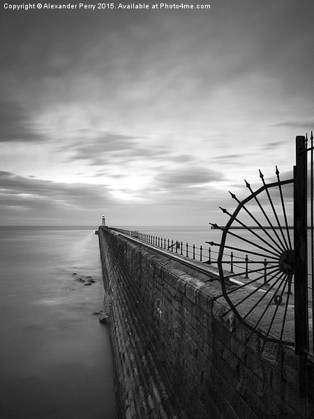 Tynemouth Pier Canvas Print by Alexander Perry