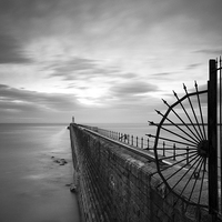 Buy canvas prints of  Tynemouth Pier by Alexander Perry