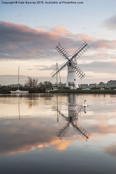 Thurne Windpump Canvas Print by Kate Barclay