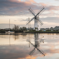 Buy canvas prints of  Thurne Windpump by Kate Barclay