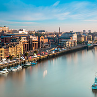 Buy canvas prints of Newcastle Quayside Sunrise by Colin Morgan