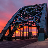 Buy canvas prints of Tyne Bridge Sunrise by Colin Morgan
