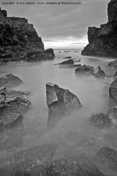 Misty Rocks Print by Eric Watson