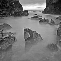 Buy canvas prints of Misty Rocks by Eric Watson