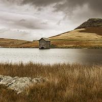 Buy canvas prints of  Devoke Water Boat House by Michael Houghton
