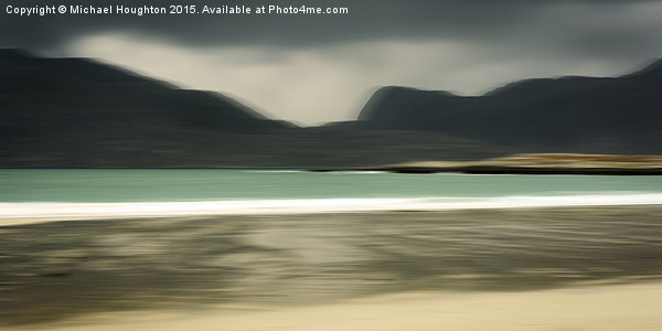 Luskentyre Beach and the Harris Hill Framed Print by Michael Houghton