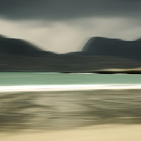 Buy canvas prints of  Luskentyre Beach and the Harris Hill by Michael Houghton