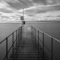 Buy canvas prints of  West Kirby Lake by Jim Moody