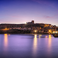 Buy canvas prints of Winter Dawn, Whitby by Janet Burdon