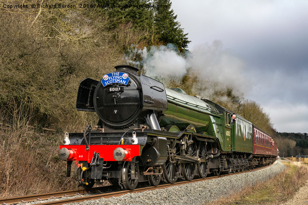 The Flying Scotsman In Newtondale Canvas print by Richard Burdon