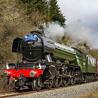 Buy canvas prints of The Flying Scotsman In Newtondale by Richard Burdon