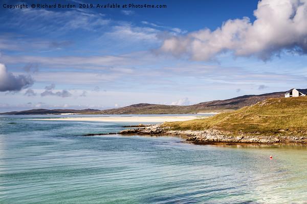 Luskentyre Bay, Isle of Harris Framed Print by Richard Burdon