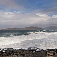 Buy canvas prints of Isle of Harris Panorama by Richard Burdon