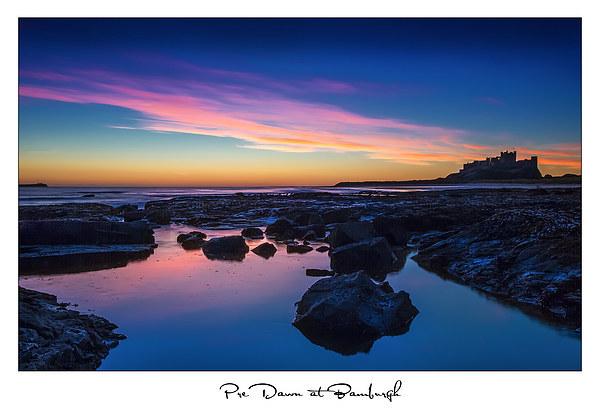 Pre Dawn at Bamburgh Canvas print by Mark Lee Heavisides