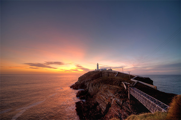 South Stack Lighthouse Canvas print by Gail Johnson