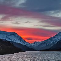 Buy canvas prints of Llyn Padarn Sunrise by Gail Johnson