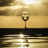 Buy canvas prints of cold glass of white wine by Gail Johnson